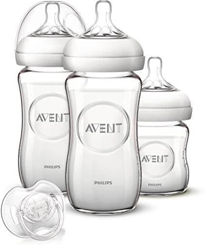 Kit de 3 biberons en verre Avent